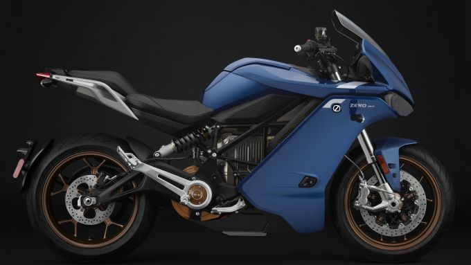 Nuova Zero Motorcycles SRS visuale laterale