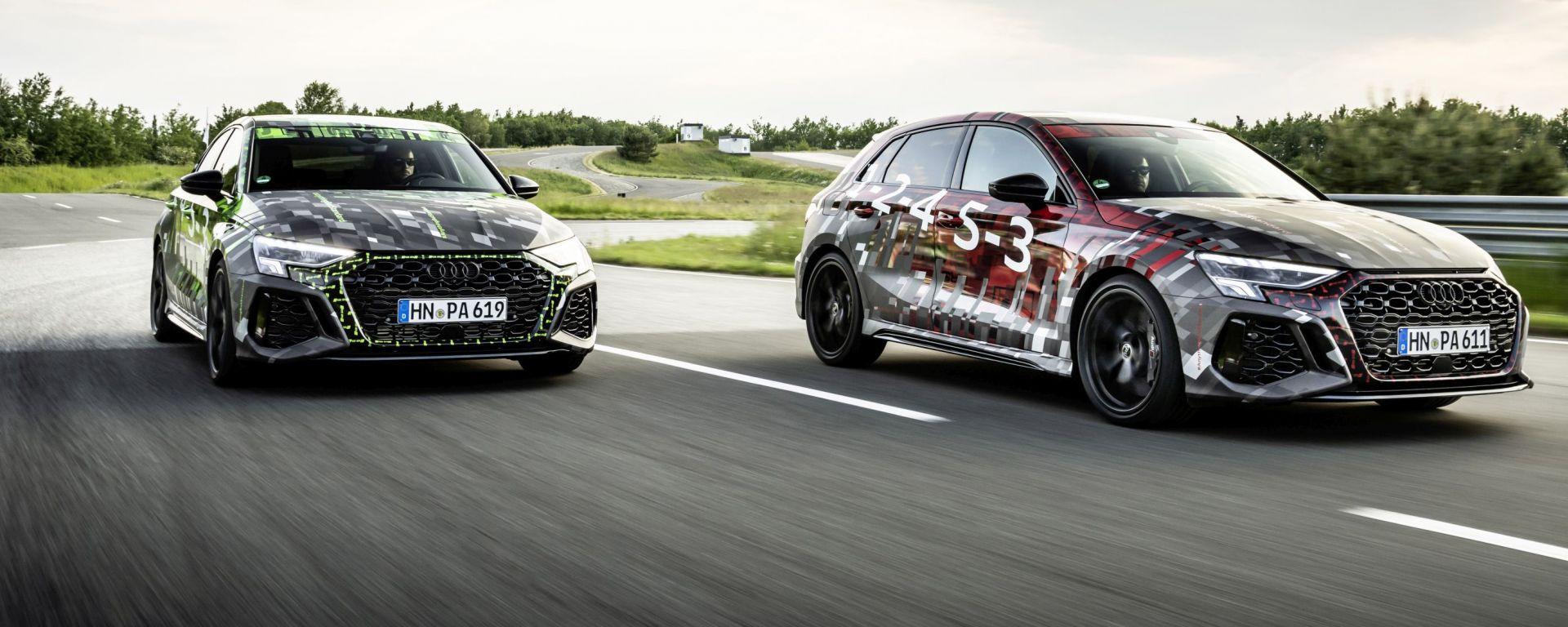 Nuove Audi RS3 Sportback e Sedan con RS Torque Splitter
