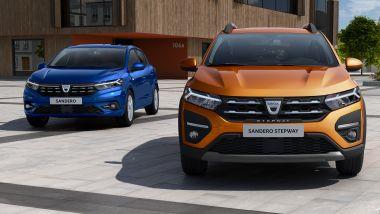 Nuove Dacia Sandero e Sandero Stepway