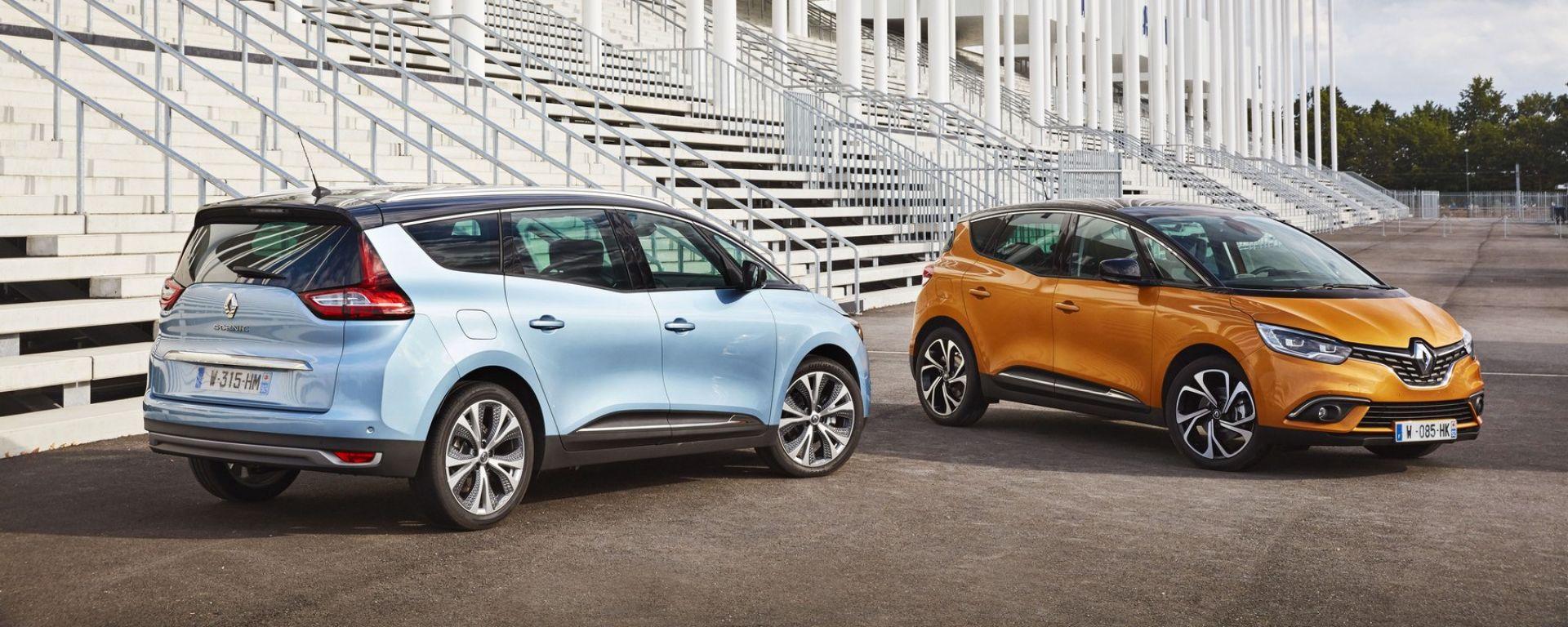 Nuove Renault Scenic e Grand Scenic