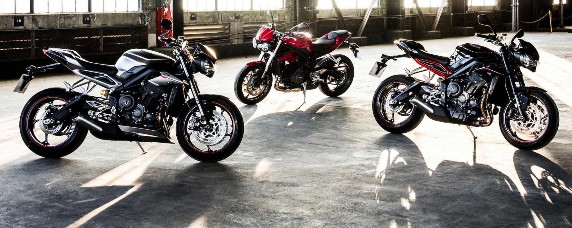 Nuove Triumph Street Triple S, R ed RS