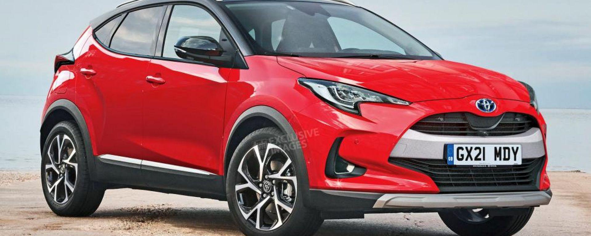 Nuovo B-Suv Toyota, il render di Auto Express