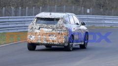 Nuovo BMW X1 2022, nuove foto spia: visuale posteriore