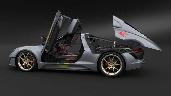 Nuovo brevetto Porsche: il concept Le Mans Living Legend che dà origine al brevetto