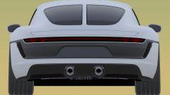 Nuovo brevetto Porsche: il posteriore con il lunotto diviso in due dal profilo verticale