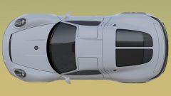 Nuovo brevetto Porsche: una vista dall'alto mostra il meccanismo delle portiere
