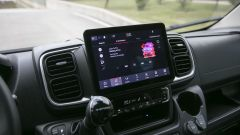 Nuovo Fiat Ducato 2021: il display del sistema multimediale