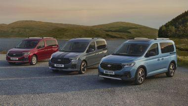 Nuovo Ford Tourneo Connect 2021: la gamma dei tre allestimenti