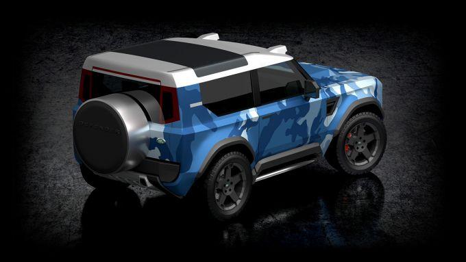 Nuovo land Rover Defender 80: una delle interpretazioni del designer Dejan Hristov
