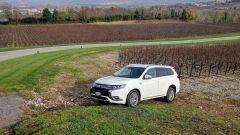 Nuovo Mitsubishi Outlander PHEV 2019 nella tenuta Ca' Del Bosco, Franciacorta