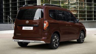 Nuovo Nissan Townstar, visuale di 3/4 posteriore