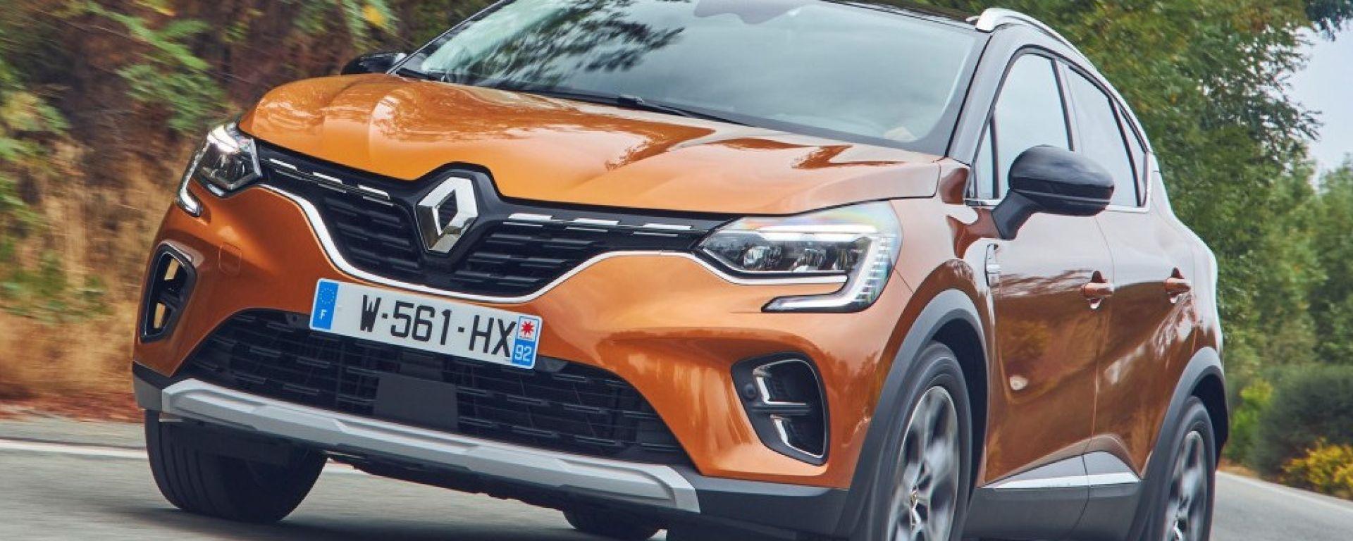 Nuovo Renault Captur, vista 3/4 anteriore