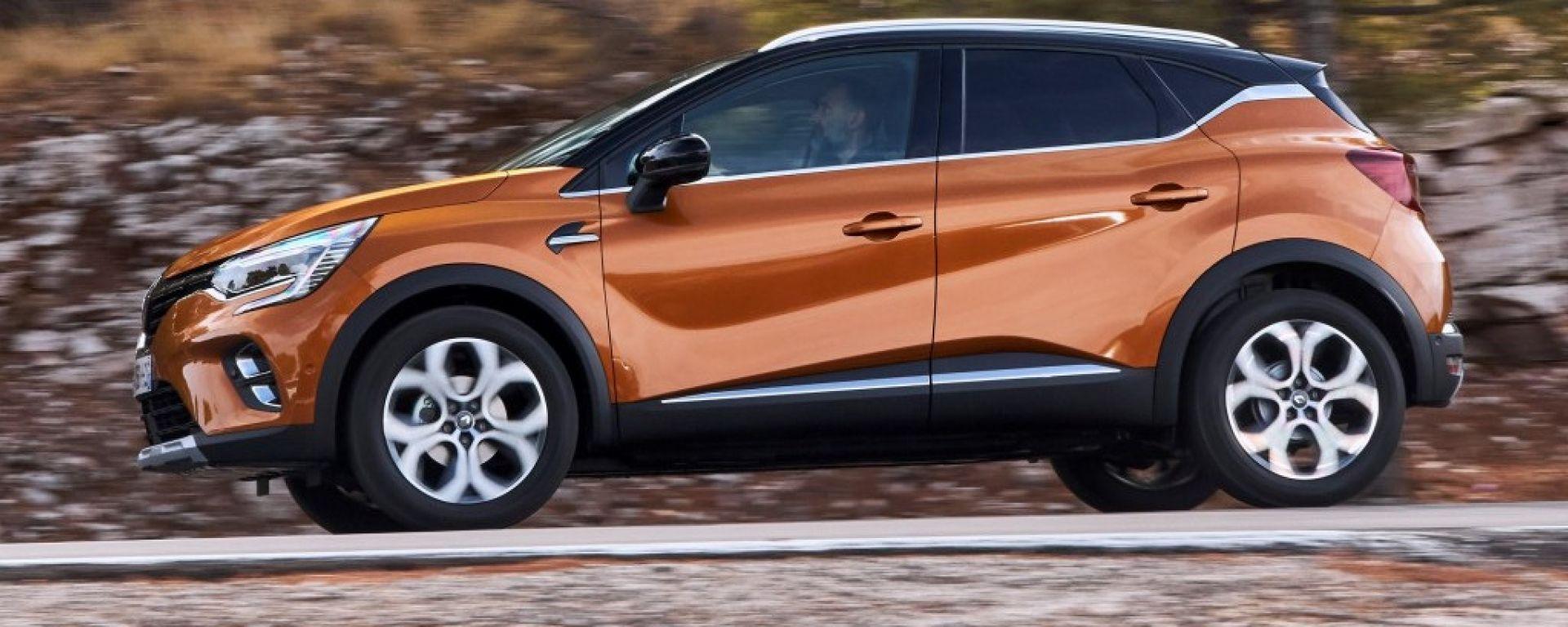 Nuovo Renault Captur, vista laterale