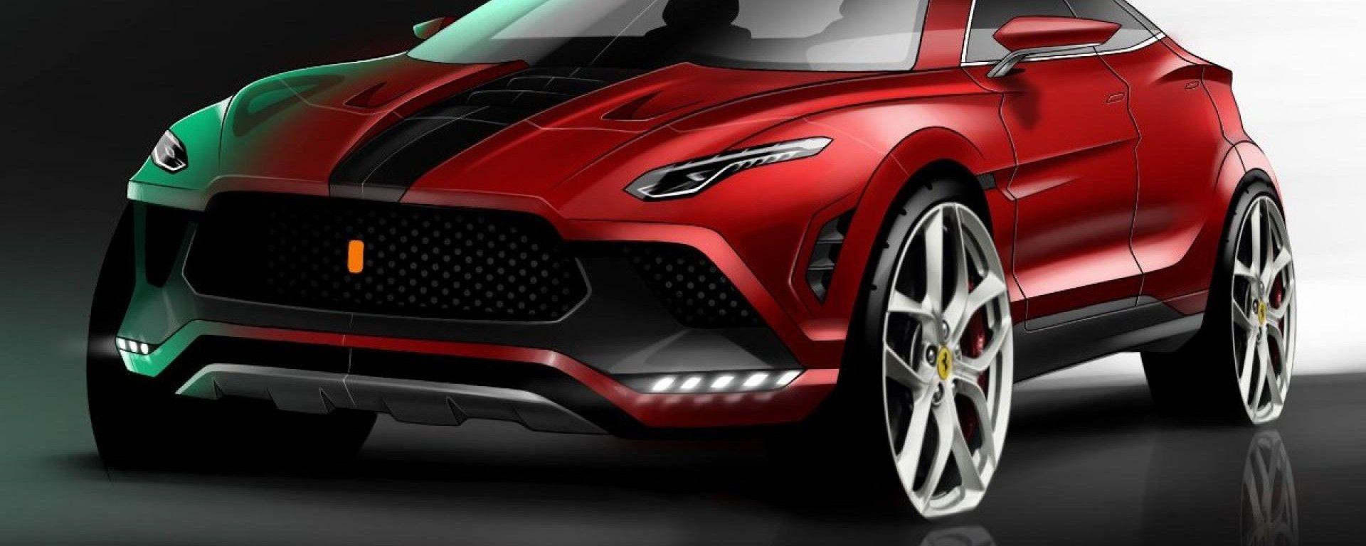 Nuovo SUV Ferrari Purosangue: uno dei primi disegni del SUV Ferrari