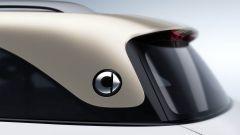 Nuovo SUV smart, i montanti posteriori con il logo smart
