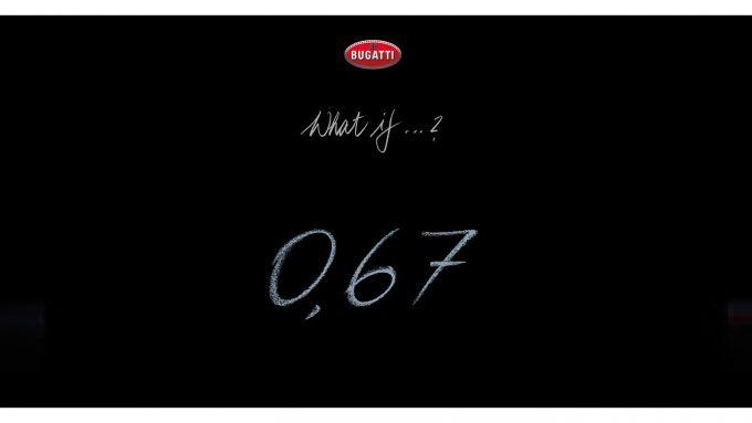 Nuovo teaser della futura Bugatti: cosa vorrà dire 0,67?