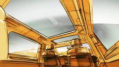 Nuovo Volkswagen Multivan 2021: un disegno che mostra gli interni