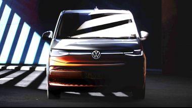 Nuovo Volkswagen Multivan T7: il frontale del nuovo multispazio tedesco