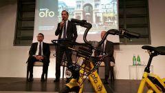 Ofo a Milano, la presentazione col sindaco Sala