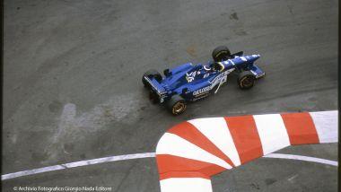 Olivier Panis al GP Monaco 1996 con la Ligier