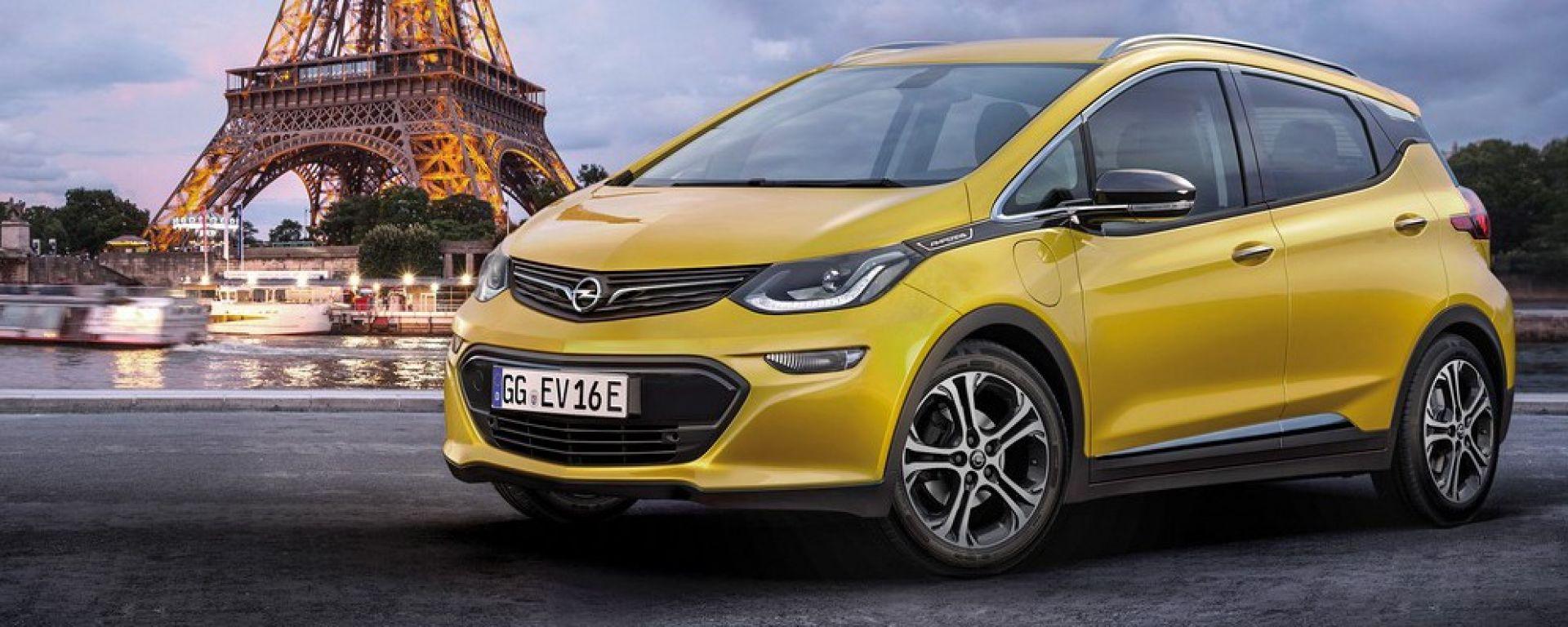 Opel Ampera-e: al Salone di Parigi debutta la piccola elettrica di Opel