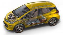 Opel Ampera-e, le batterie sono annegate nel pianale
