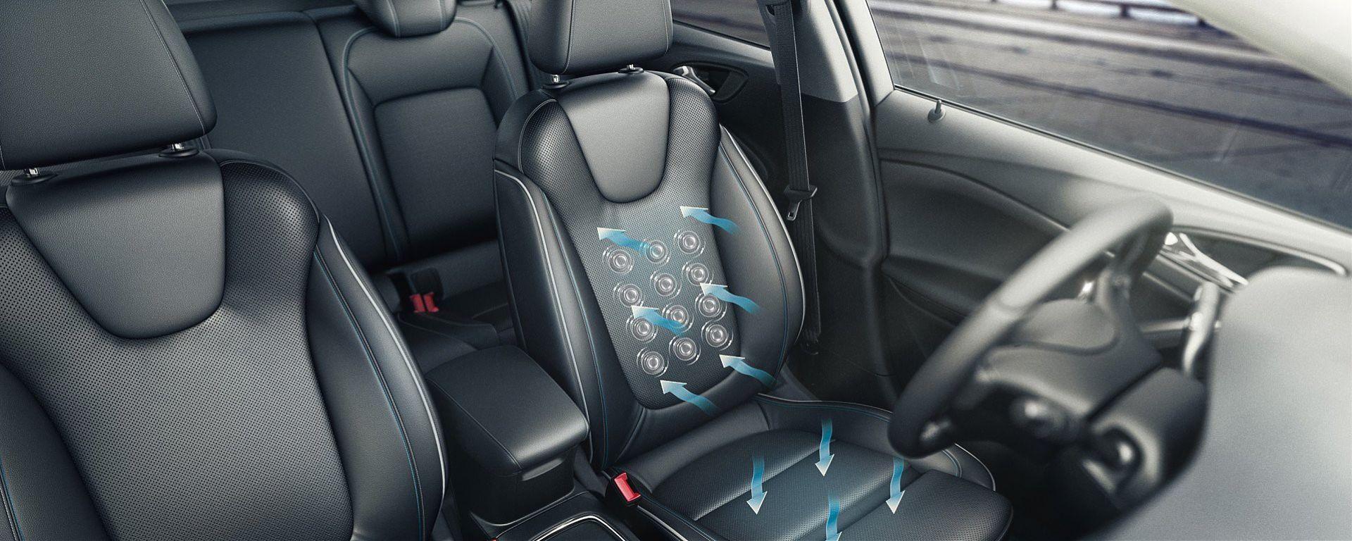 Opel Astra 2016: focus sui sedili