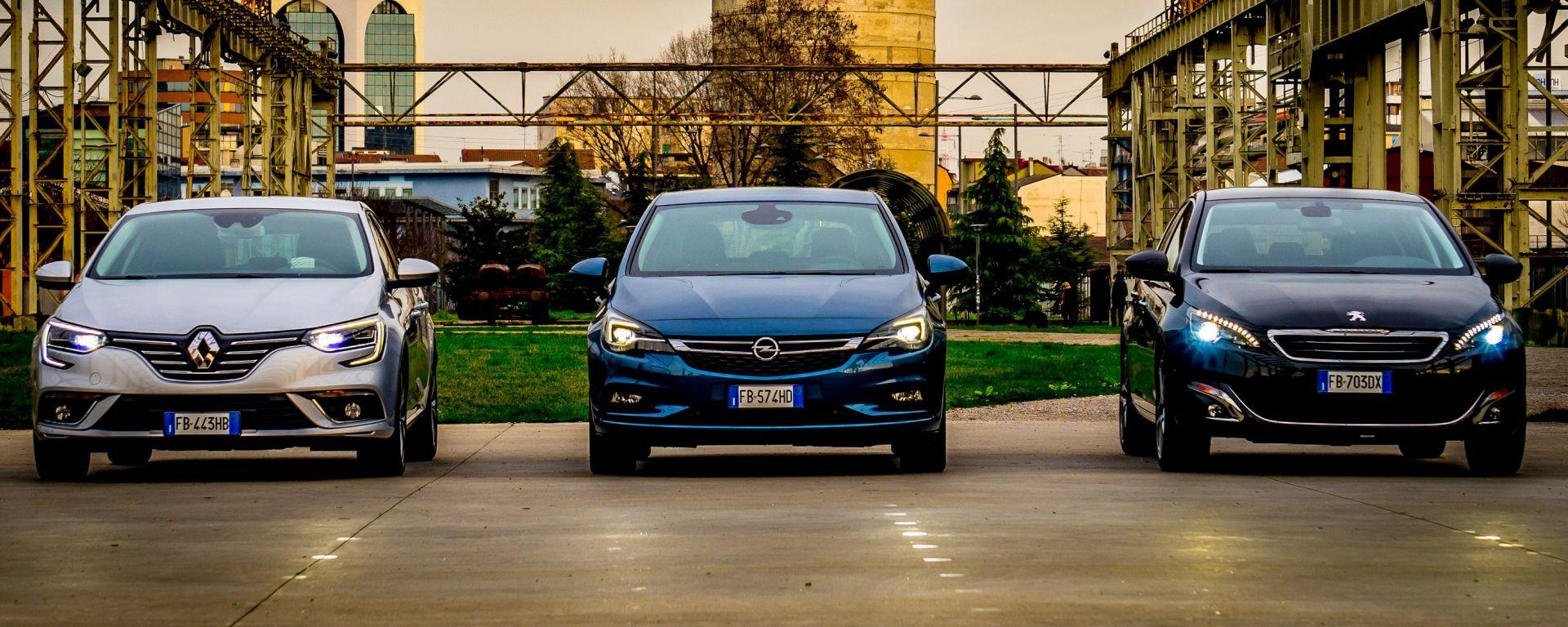 Opel Astra vs Peugeot 308 vs Renault Megane