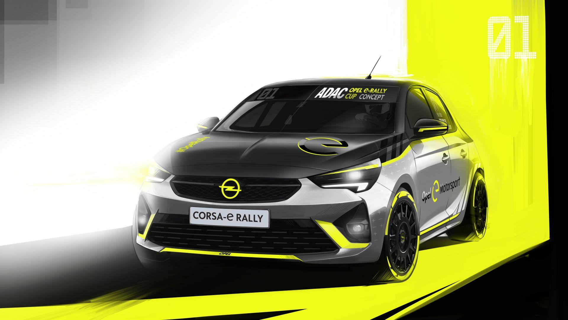 nuova opel corsa e-rally elettrica da gara pronta nel 2021