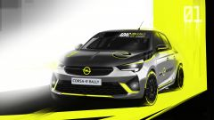 Opel Corsa e-Rally: uno degli ultimi rendering