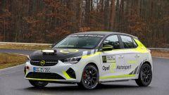 Opel Corsa-e Rally, vista 3/4 anteriore
