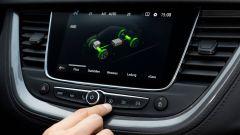 Opel Grandland X Hybrid4, sul display le informazioni relative al propulsore ibrido