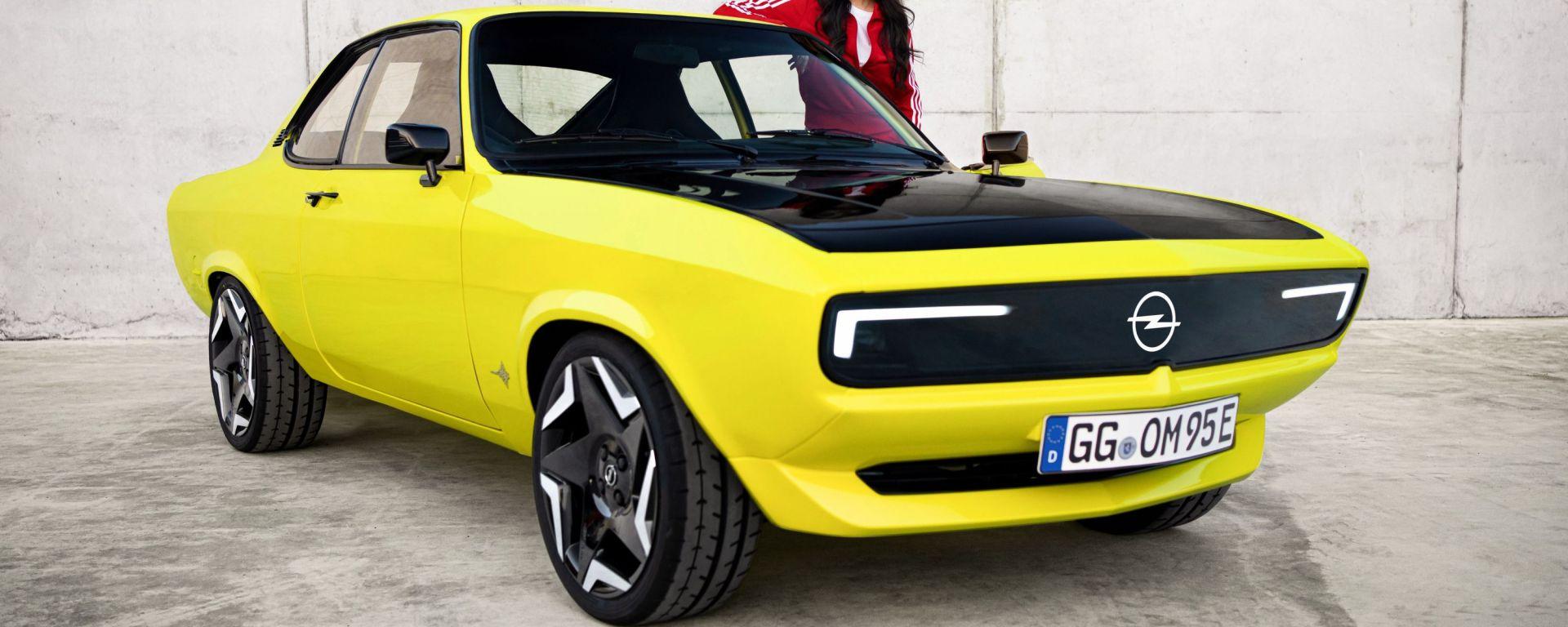 Opel Manta GSe: il restomod elettrico della coupé del 1970