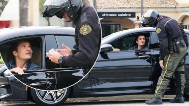 Orlando Bloom fermato dalla Stradale, ma a bordo di una BMW