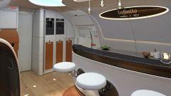 Pagani Airbus ACJ 319 Infinito: dettaglio degli sgabelli del bar