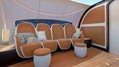 Pagani Airbus ACJ 319 Infinito: dettaglio dei divanetti