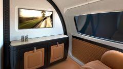 Pagani Airbus ACJ 319 Infinito: dettaglio dei mobiletti in carbonio