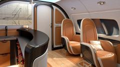 Pagani Airbus ACJ 319 Infinito: dominano legno, pelle e carbonio
