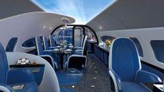 Pagani Airbus ACJ 319 Infinito: interni in pelle colorata ispirati alle Huayra