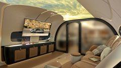 Pagani Airbus ACJ 319 Infinito: la parete in vetro si opacizza a comando