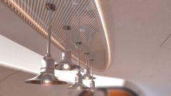 Pagani Airbus ACJ 319 Infinito: le lampade sopra il tavolo