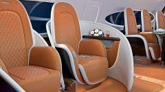 Pagani Airbus ACJ 319 Infinito: le poltroncine hanno la scocca in carbonio