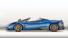 Pagani Huayra Roadster: il tetto può essere in carbonio/vetro o tessuto