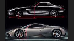 Pagani Huayra vs Mercedes SLS: il montante A a confronto
