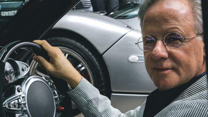 Pagani Imola e Huayra Roadster BC: Horacio Pagani a bordo di una sua creazione