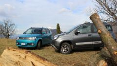 Panda 4x4 Cross e Suzuki Ignis 4x4, come vanno su strada e offroad