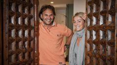 Paolo Andreucci insieme alla sua navigatrice e compagna Anna Andreussi