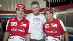 Paolo Ianieri nel 2013 con Fernando Alonso e Felipe Massa