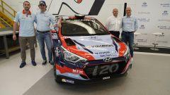 Paolo Sperati, Umberto Scandola, Andrea Adamo, Riccardo Scandola presentazione Hyundai Rally Team Italia