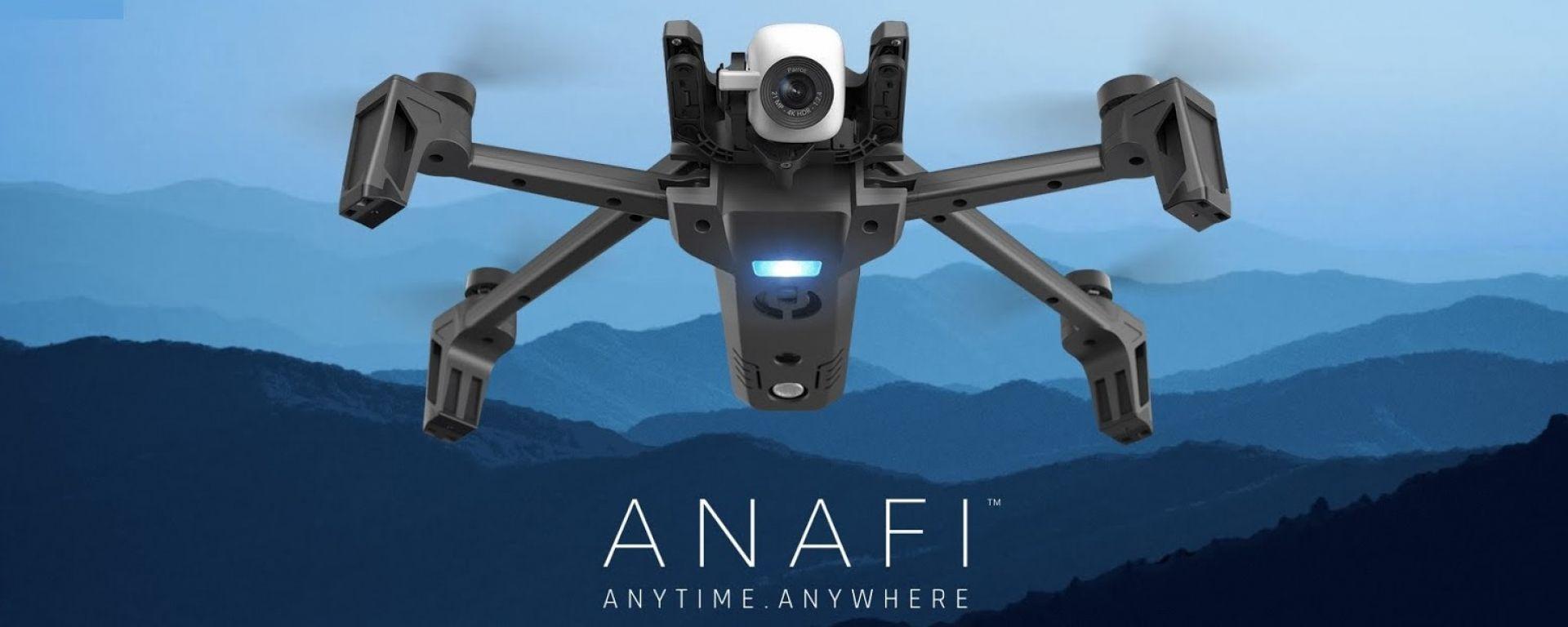 Parrot ANAFI: il drone 4K con gimbal digitale e il peso di 320 grammi